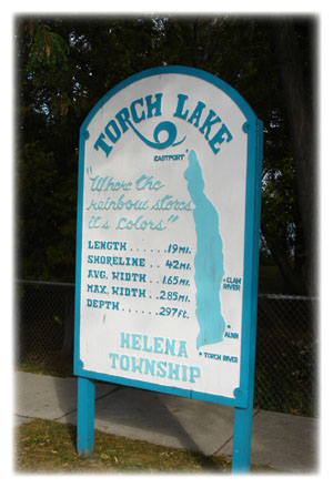 Torch Lake sign in Alden